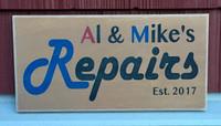 Business Sign - Al & Mike's Repairs