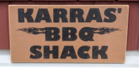 barbeque (bbq) shack sign