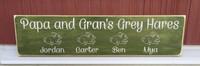Papa and Gran's Grey Hares