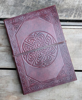 Leather Journal with embossed Celtic Knot