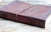 Leather Journal with hand bound paper