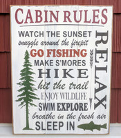Cabin ruled sign