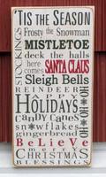 Tis The Season - Christmas Sign