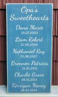Grandkids Name Sign