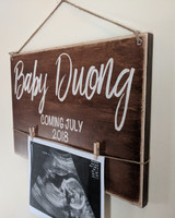 Rustic Wood Sign - Baby Birth Annoucement