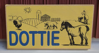 Personalized Kids Farm Themed Wood Sign