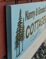 Outdoor cottage sign