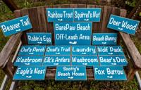 Barefoot Beach resort signs
