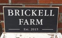 Brickell Farm Sign