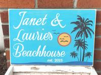 Beachhouse - Cabin Sign