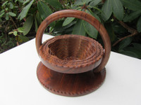 Collapsible Wooden Basket 8 inch One Compartment