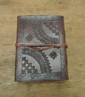 Phasha Leather Journal Small with LINED PAPER  - back cover