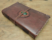 handcrafted leather journal - side profile