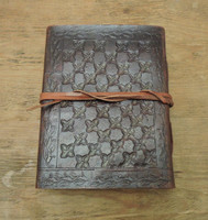 small leather journal - back view