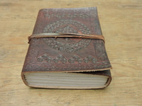 Phasha Leather Journal Small with LINED PAPER 6 x 4.5 - bottom view