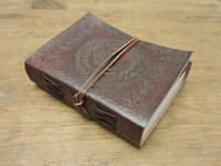 Phasha Leather Journal Small with LINED PAPER 6 x 4.5 - side view