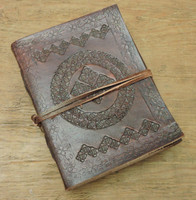 Phasha Leather Journal Small with LINED PAPER 6 x 4.5