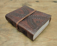 "Leather Journal Small with LINED PAPER 6"" x 4.5"""