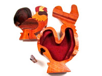 open rooster puzzle box