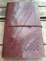 back cover tooling design on leather journal