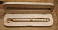 personalized pen and case set