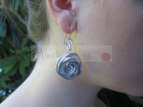 aluminum nest earrings