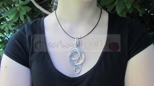 aluminum knot pendant