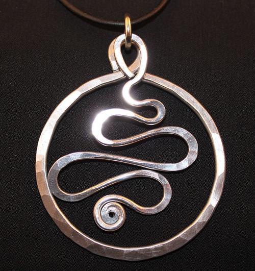 Circle Squiggle pendant