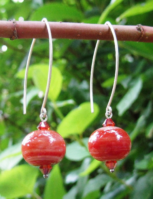 treat designs raku style earrings