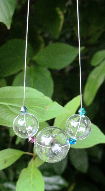 clear glass bubble necklace