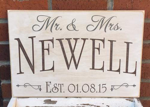 wedding gift idea - custom wood sign
