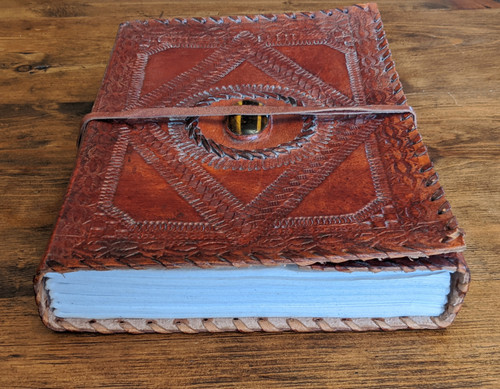 OLD WORLD Leather Journal - front view