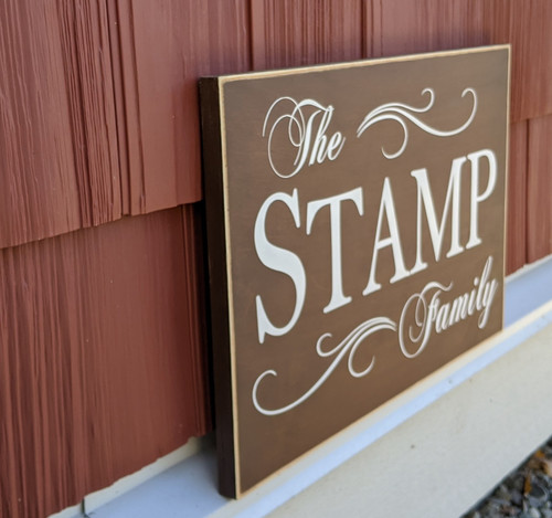 "Personalized Family Name Wood Sign 12"" x 18"""