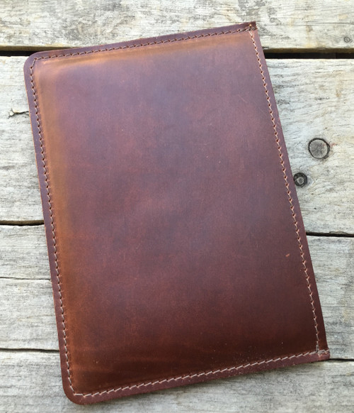 iPad Mini Leather Sleeve - Saddle