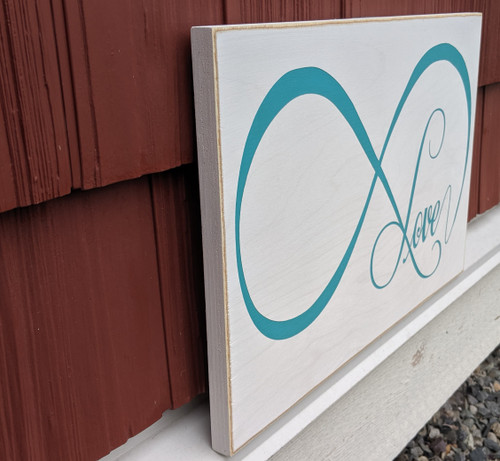 Love Eternity Wood Sign