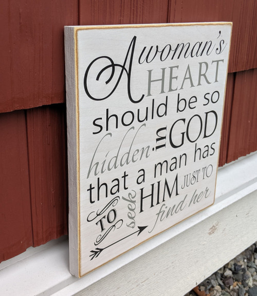 Side view: A woman's heart should be so hidden in God that a man has to seek Him just to find her