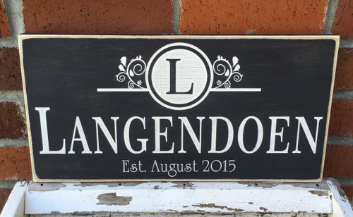 Shabby Chic Family Sign - Custom Wood Sign
