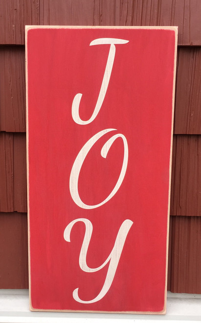 Joy - made to order handcrafted wood sign