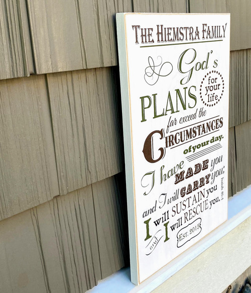 Personalized Family Sign - Isaiah 46:4