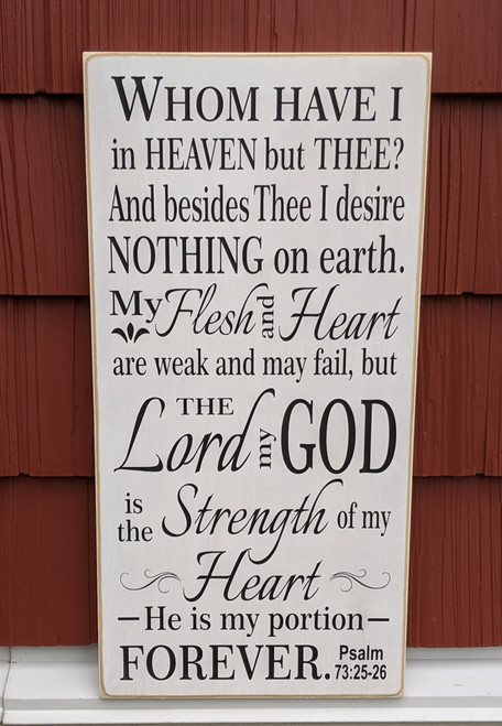 Psalm 73 sign - Whom Have I In Heaven But Thee?