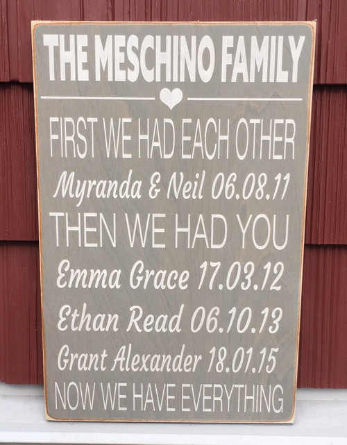 First We Had Each Other...Now We Have Everything - Sign