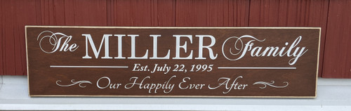 Our happily ever after family sign