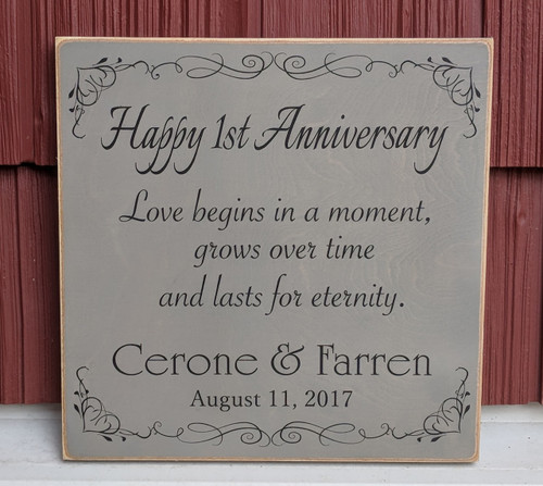Wood Sign - Personalized Anniversary Sign
