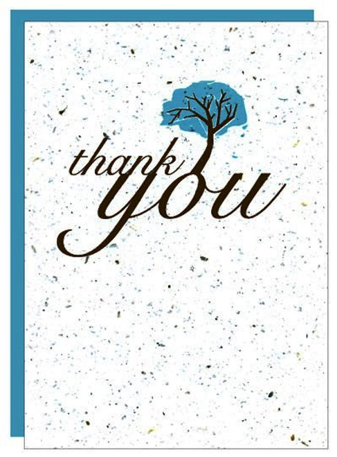Plantable Seed Paper Thank You Greeting Card Set 8pk