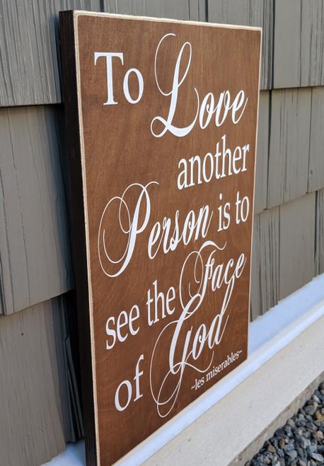 Les Miserables Wood Sign