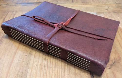 "Side view of Spellbinding Journals - Venetian Style Leather Journal - Large - 8.75"" x 11.5"""