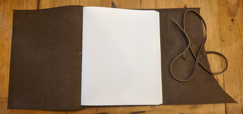 "Blank Archival Paper inside Spellbinding Journals - Venetian Style Leather Journal - Large Brown - 8.75"" x 11.5"""