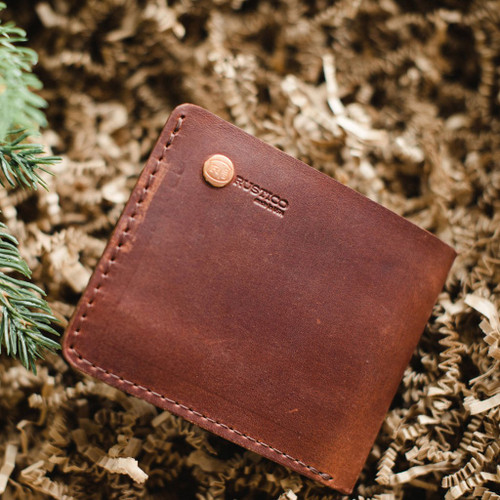 Knox Bifold Leather Wallet - Saddle - by Rustico