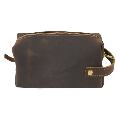 Large Leather Pouch - High Line by Rustico - Side View