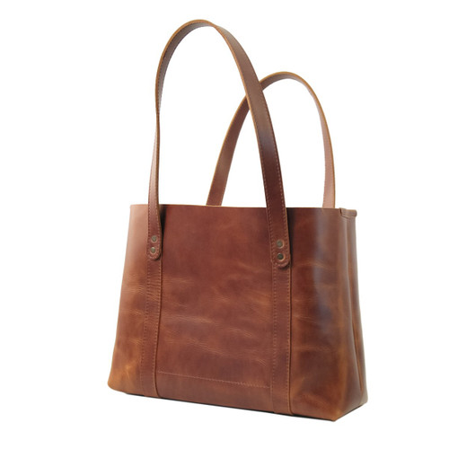 Leather Tote - Hideout by Rustico - Saddle